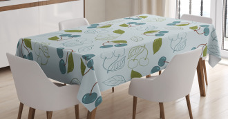 Cherry Blossoms Artful Tablecloth