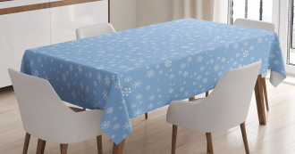 Cute Snowflakes Falling Tablecloth