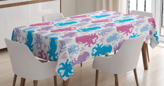 Love Theme Creatures Tablecloth