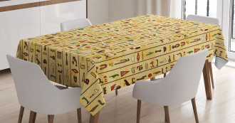 Colorful Icons Papyrus Tablecloth