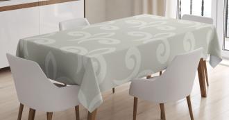 Soft Damask Motif Tablecloth