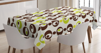 Ornate Trippy Sixties Tablecloth