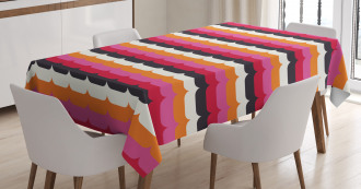 Vivid Curves Modern Tablecloth