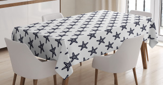 Diagonal Starfish Tablecloth