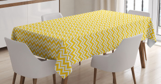 Chevron Zigzag Motif Tablecloth