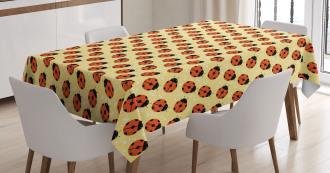 Cute Bugs Cartoon Tablecloth