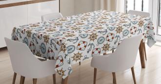 Helm Life Buoy Anchor Tablecloth