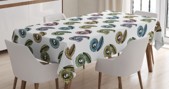 Hand Drawn Seashells Tablecloth