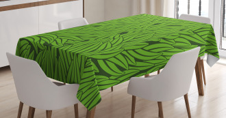 Grass Growth Abstract Tablecloth