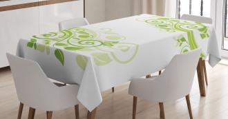 Floral Artistic Design Tablecloth