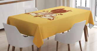 Bird Silhouette Banner Tablecloth