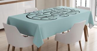 Peace Love Joy Lettering Tablecloth