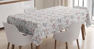 Grunge Teen Pattern Tablecloth