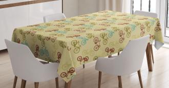 Contrast Vintage Colors Tablecloth