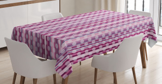 Barcode Stripes and Dots Tablecloth
