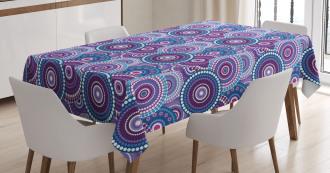 Circular Dots Pattern Tablecloth