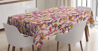 Seaweed Coral Fish Tablecloth