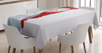 Funny Peaceful Woods Tablecloth