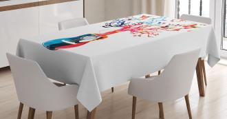 Tree Butterflies Artful Tablecloth