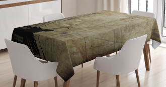 Faded Instrument Design Tablecloth