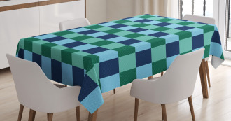 Polka Dot Squares Tablecloth