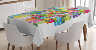 Tall Buildings Apartments Tablecloth