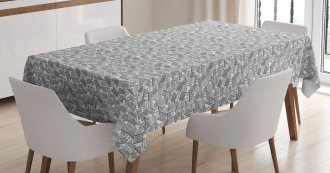 Town Houses Pattern Sketch Tablecloth