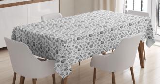 Monochrome Ocean Tablecloth