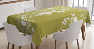 Swirls with Seahorse Tablecloth