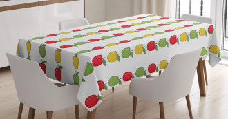 Colorful Fresh Fruit Tablecloth