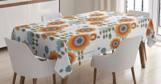 Floral Abstract Tablecloth