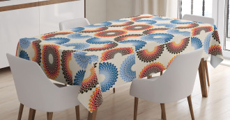 Checkered Floral Tablecloth