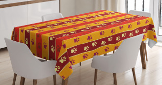 Cat Dog Paw Trace Tablecloth