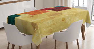 Grunge Squares Tablecloth