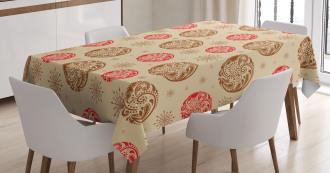 Leaf Ornaments Tablecloth