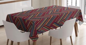 Herringbone Lines Tablecloth