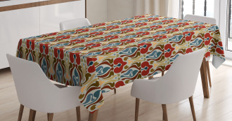 Abstract Orchid Tablecloth
