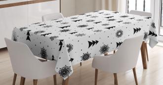 Xmas Pine Trees Holiday Tablecloth