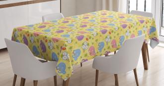 Mascot Animals Playful Tablecloth