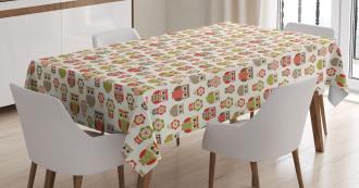 Retro Childish Flowers Tablecloth
