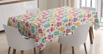 Flowers Nostalgic Kids Tablecloth