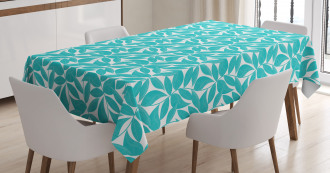 Foliage Leaves Lines Tablecloth