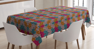 Colorful Retro Tribal Tablecloth