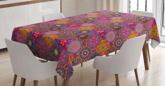Vibrant Artistic Folk Tablecloth