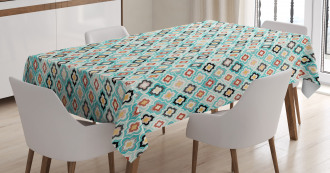 Dotted Asian Motifs Tablecloth