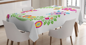 Circles Curves Swirls Tablecloth