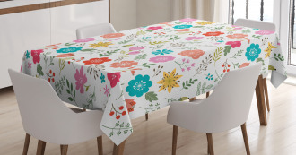 Leaves and Petals Tablecloth