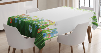 Grass and Flowers Tablecloth