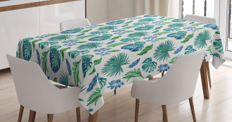 Monstera Coconut Palm Tablecloth