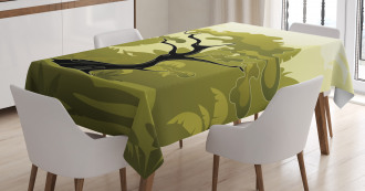 Japanese Jungle Tablecloth